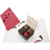 Tarjeta desplegable imprimible y armable de caja de chocolate. Manualidades a Raudales.