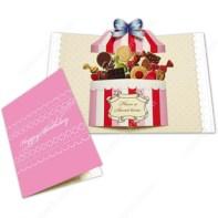 Papercraft imprimible y recortable de una Tarjeta pop-up caja de dulces. Manualidades a Raudales.