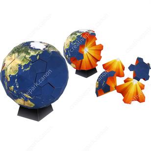 Quebra-cabeça do globo,Brinquedos,Artesanato em papel,ciência,Educacional,quebra-cabeça,globo,jogo