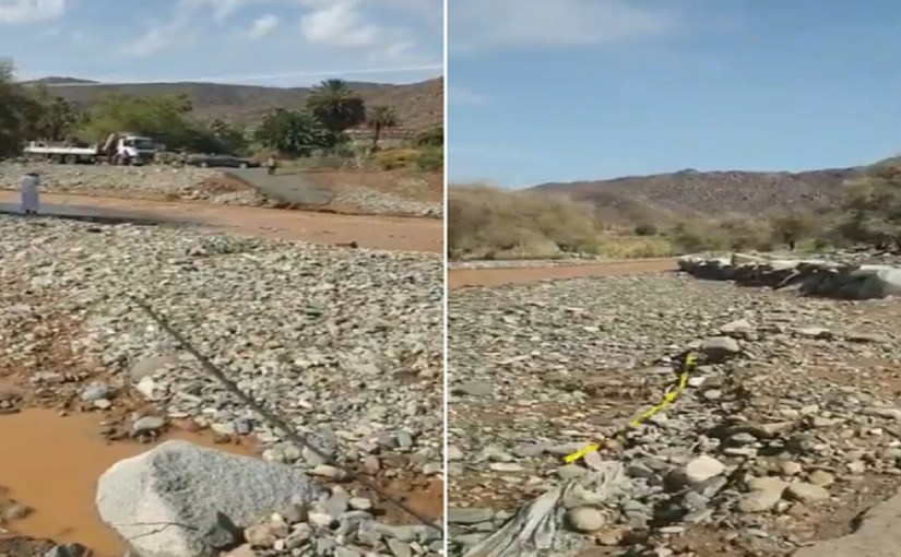 """بالفيديو.. مواطن يشكو من انقطاع الخدمات بقرية """"الشط"""" و""""أمانة نجران"""" تتفاعل"""