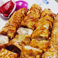 拯救你的食欲!!超入味加拿大北极虾腐衣卷家常菜的做法图解13