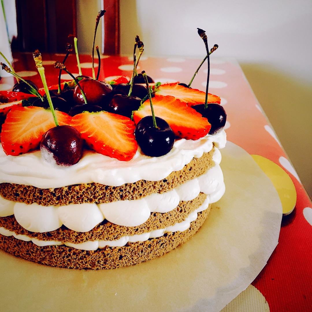 生日蛋糕這樣做好簡單~裸蛋糕初級教程的做法_【圖解】生日蛋糕這樣做好簡單~裸蛋糕初級教程怎么做如何 ...