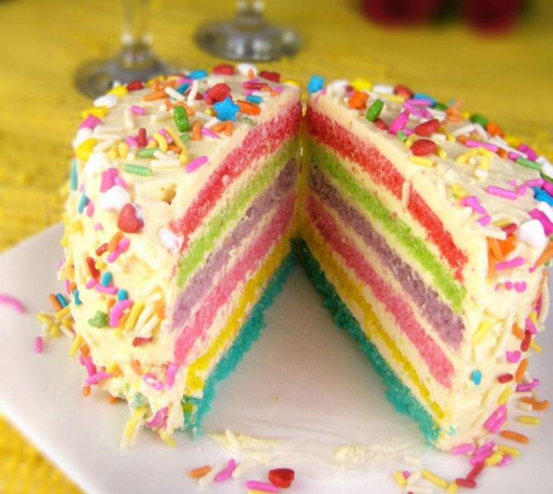 彩虹蛋糕的做法_【圖解】彩虹蛋糕怎么做如何做好吃_彩虹蛋糕家常做法大全_淑小沫_豆果美食