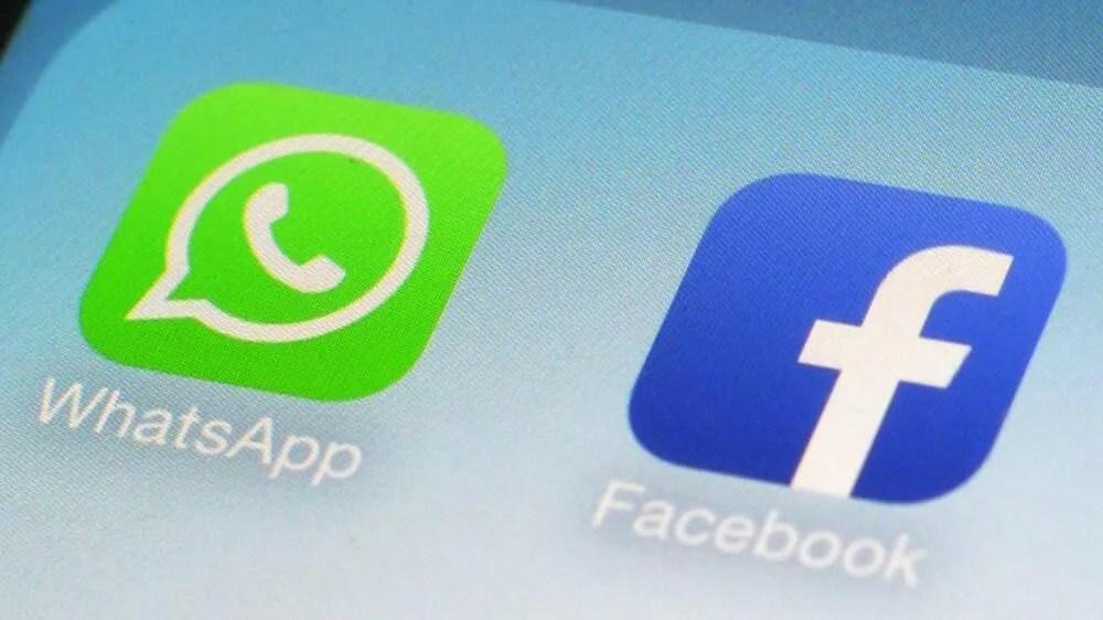 Compartilhamento de dados entre o WhatsApp e o Facebook