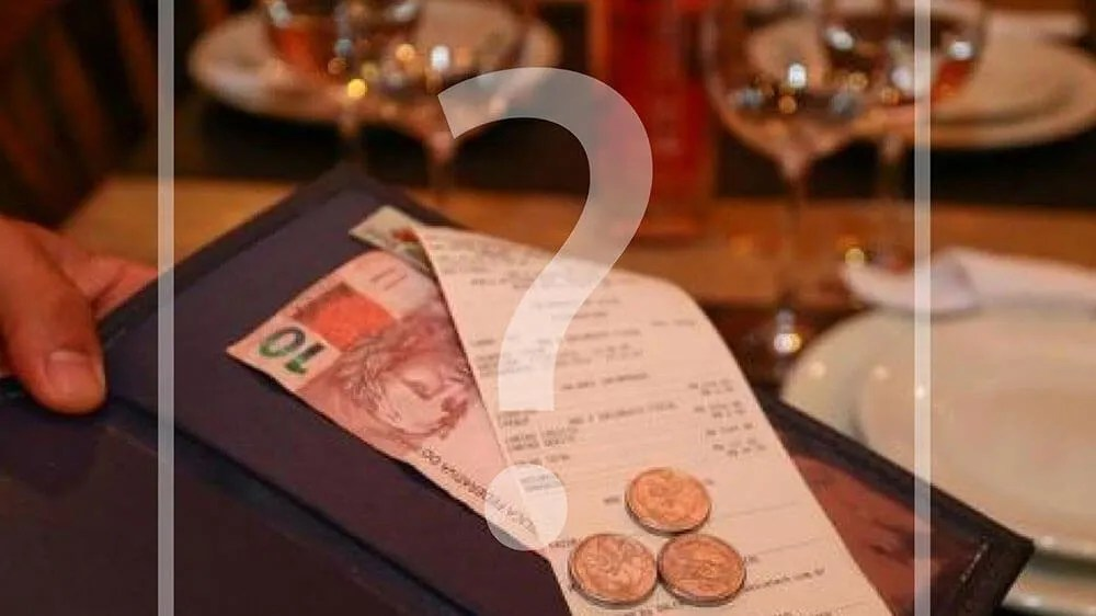 Regulamentação da distribuição de gorjeta e taxa de serviço