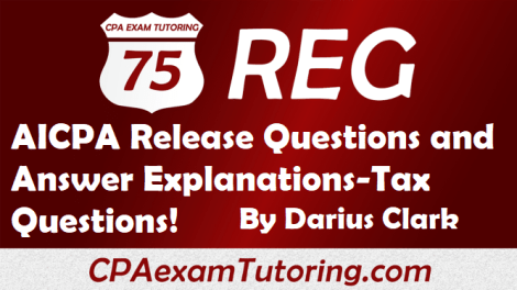 REG aicpa Release Questions with Explanations