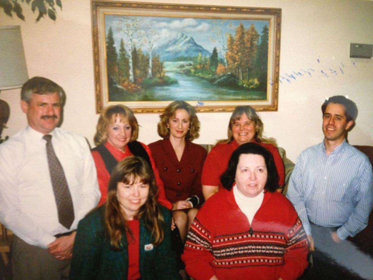 Doug with early Board & Staff