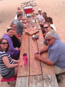 Group Picture at Picnic Table