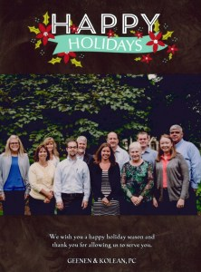 Happy Holidays From Geenen & Kolean!
