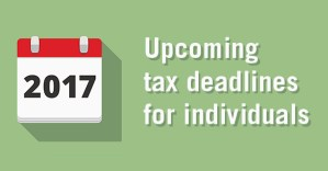 Important Tax Dates For 2017