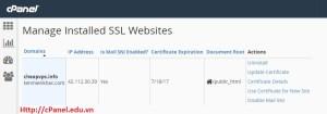 Bảo mật thông tin website với giao thức SSL/TLS trong cPanel (Phần 1)