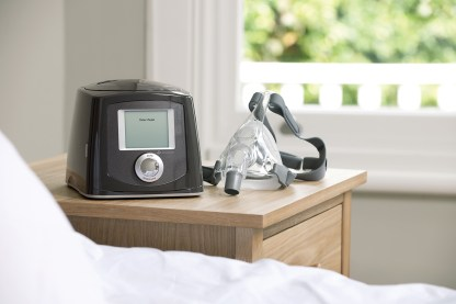 CPAP Machine on Bedside Table