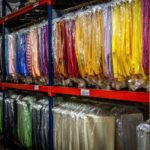 Linens in warehouse