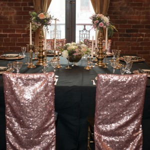 glitter covers and linen rentals