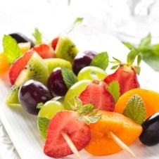 dessert fruit kebabs