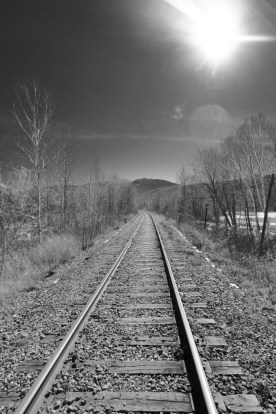 Railroad tracks, Gorham, NH
