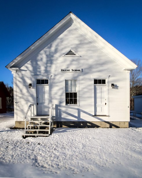 Old school building, Gilead, Maine.