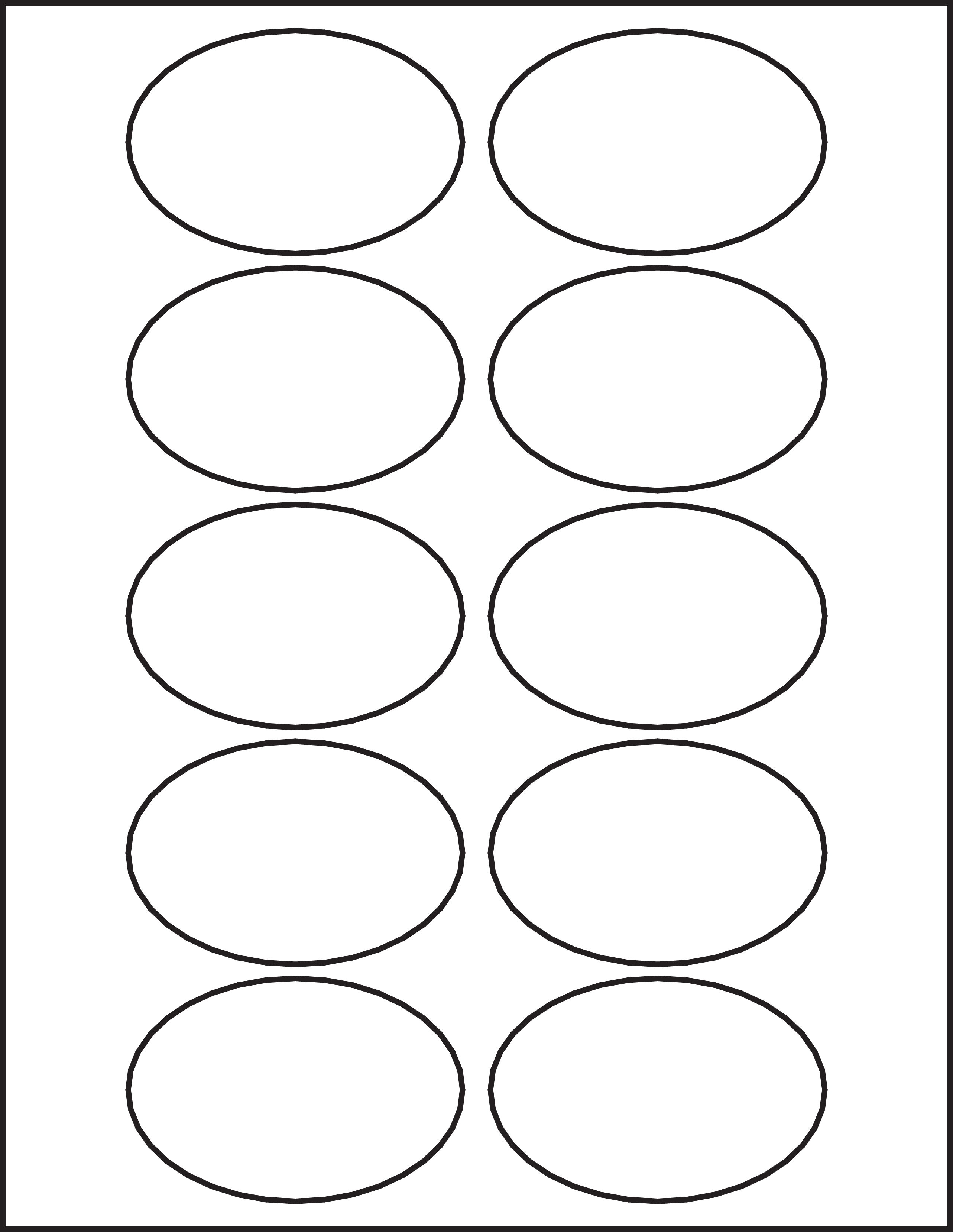 Circle Amp Oval Laser Label Sheets