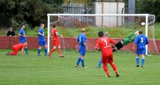Randell pulls off a super save for Fairfield United.