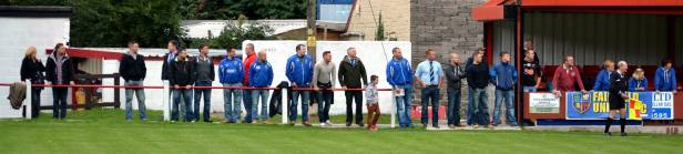 The Fairfield United fans gave their team excellent support.