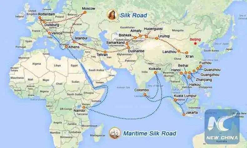 belt and road official map