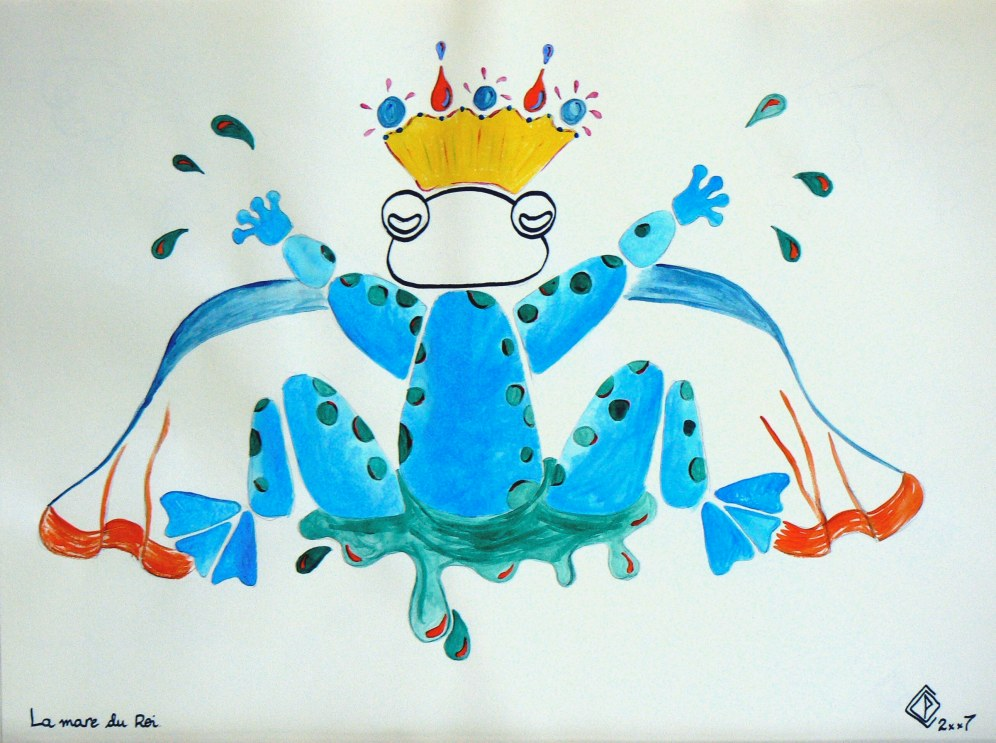 A3, feutre et acrylique, La mare du roi • Illustration Claire PéhO
