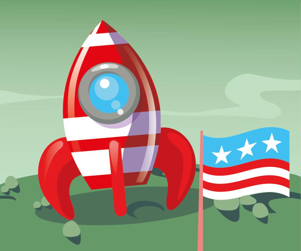 Dessin vectoriel fusée