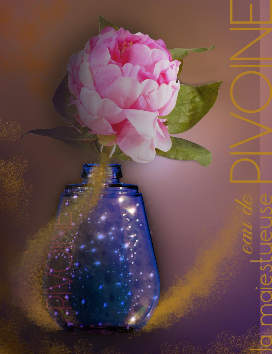Projet publicité parfum, création & réalisation, Photoshop, 2014