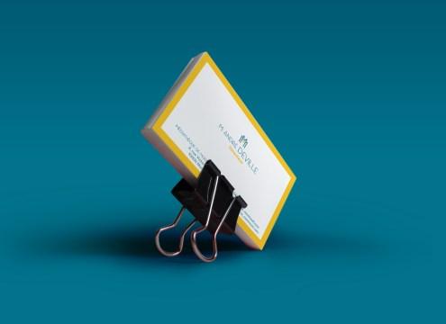 Business card Verso Médiathèque de Montreuil par Claire PéhO