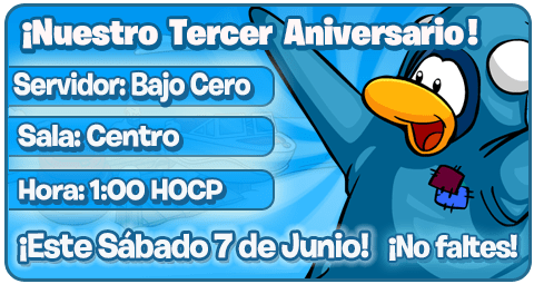 invitacioncps Club Penguin Secret: ¡Tercer Aniversario!