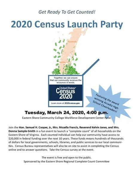 2020 Census Launch Party March 24th