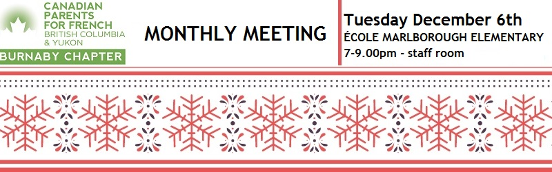 December chapter meeting