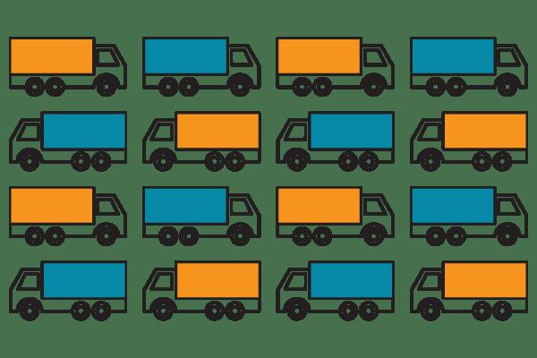 Food delivery trucks food pantry