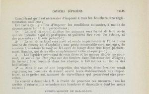 Décision du Conseil Général de la Meuse en 1882 concernant les abattoirs : conseils d'hygiène