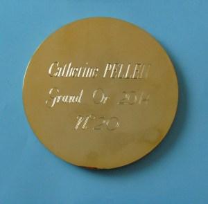 Medaille Grand Or 2014 PELLEN Verso