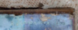 Tableau FLANDRINCK Roger 1944 signature