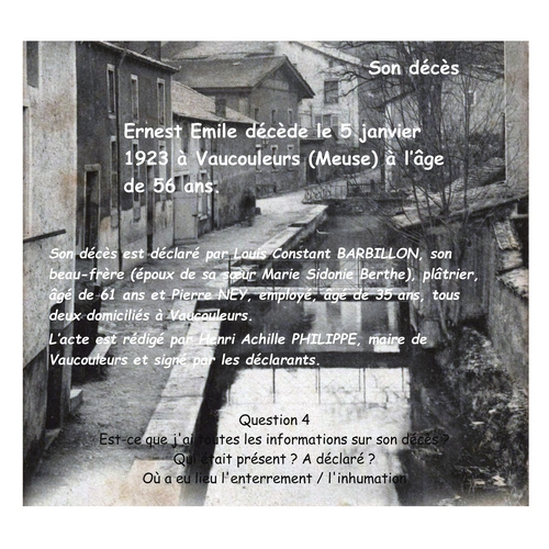 HARROY Ernest Emile décès