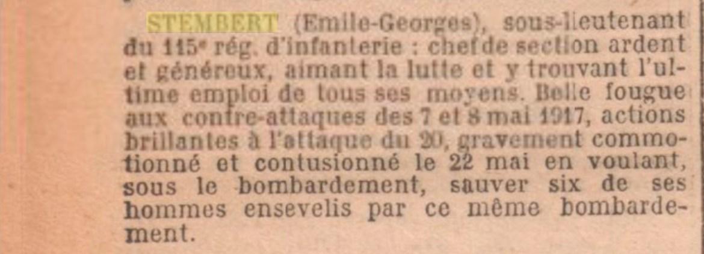 STEMBERT Emile Georges Valentin
