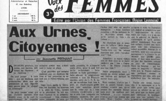 Vote des femmes avril 1945