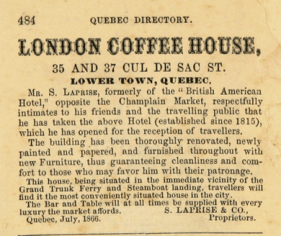 1866-1867 Quebec Directory