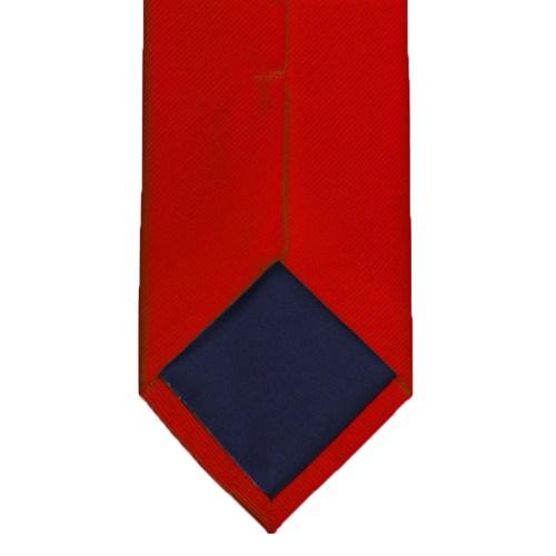 Rødt silkeslips bagside