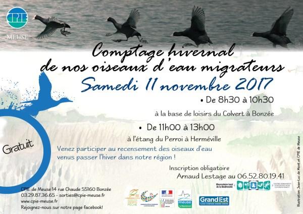 Comptage oiseaux d'eau 2017 nov