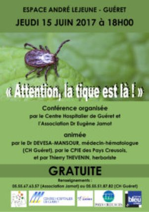 thumbnail of Affiche Conférence Maladie de Lyme