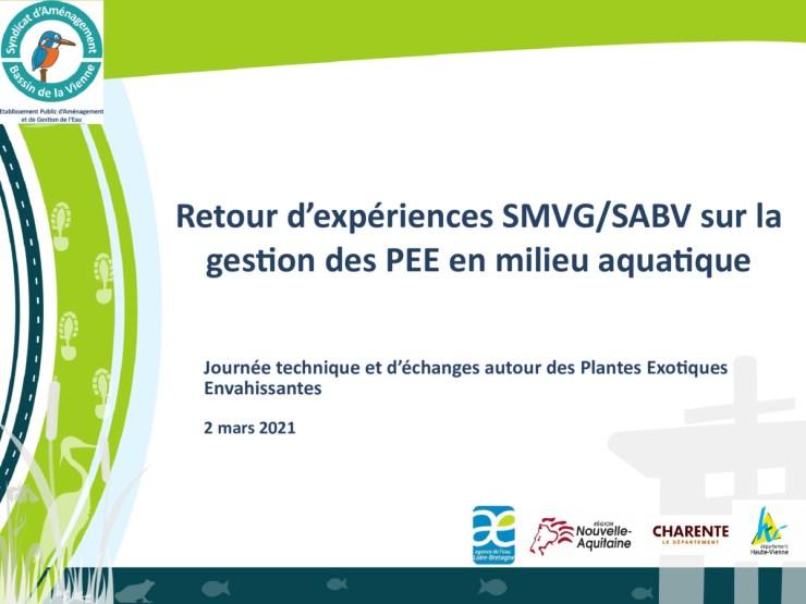 Retour d'expérience SMVG/SABV