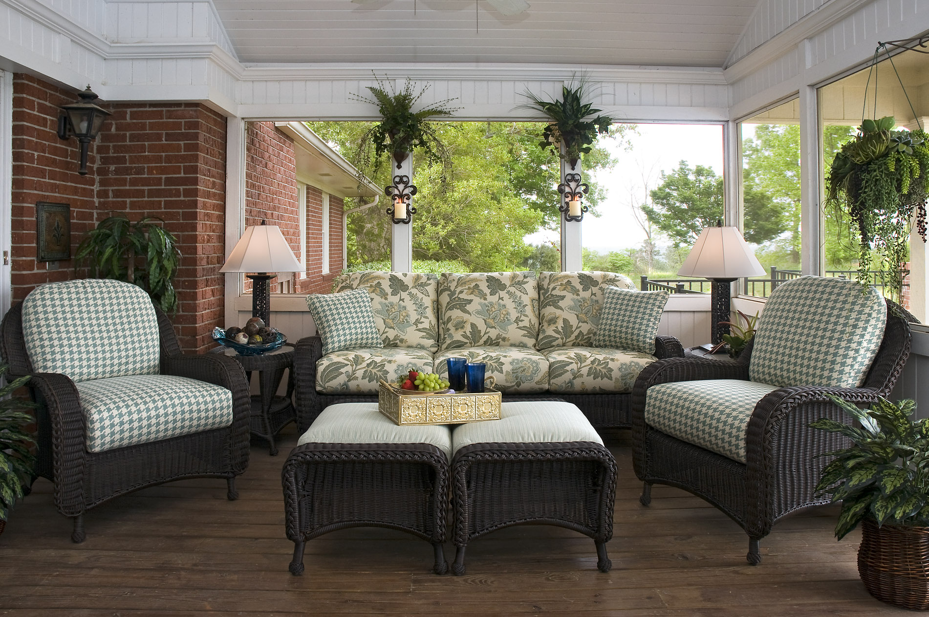 Outdoor Decorating at its finest | Catherine Pulcine - CPI ... on Outdoor Living Wicker  id=94339