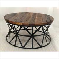 railway wood top with u legs coffee