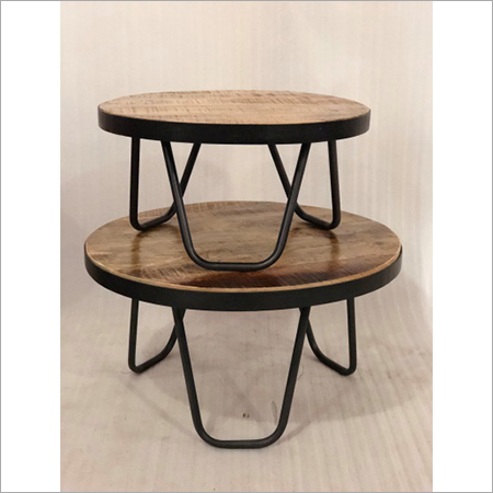iron wooden coffee table s 2