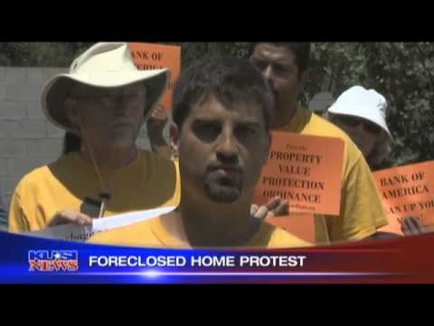KUSI: Bank Blighted Foreclosure Protest at Bank of America