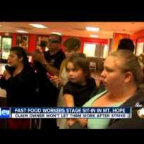 Fast-Food Workers Hold Sit-In At Local Burger King (ABC 10 12-8-14)
