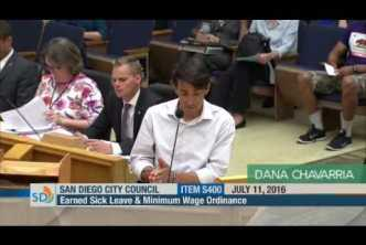 Dana Chavarria testifies at City Council about the need to enforce labor laws and fight #WageTheft